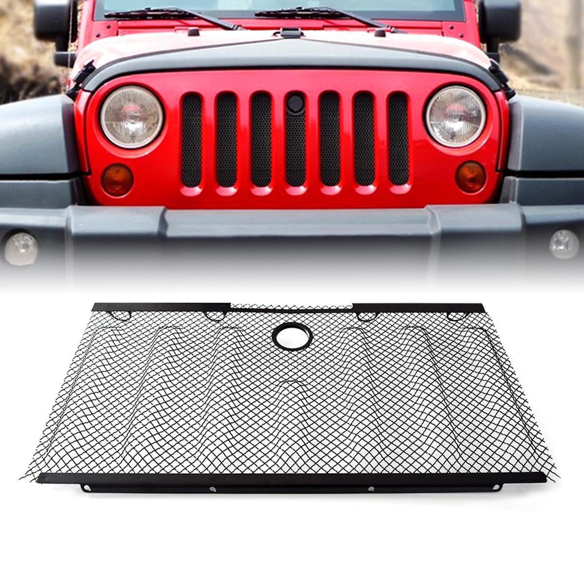 hight resolution of front grille insert 3d bug net 2 4 doors jeep wrangler 2007 2015 jk jku