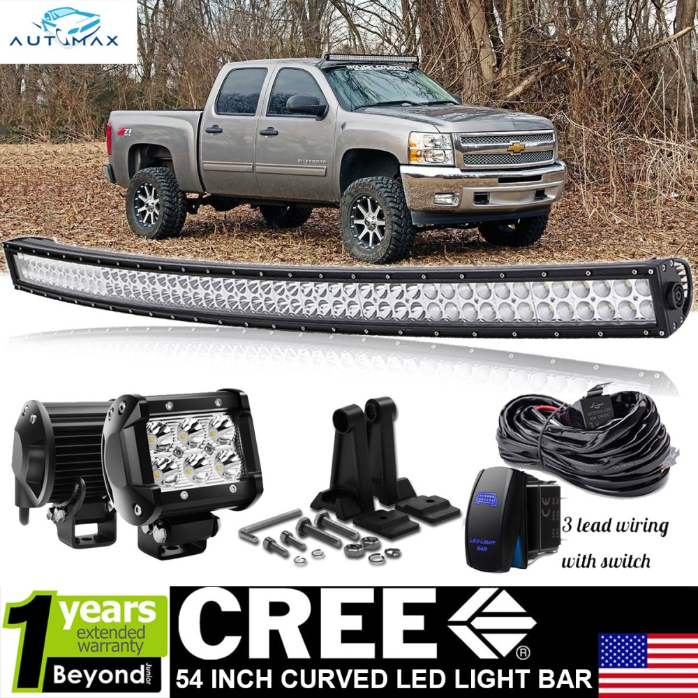 medium resolution of details about 54 curved led light bar rocker wiring 07 13 chevy chevy suburban tahoe silverado