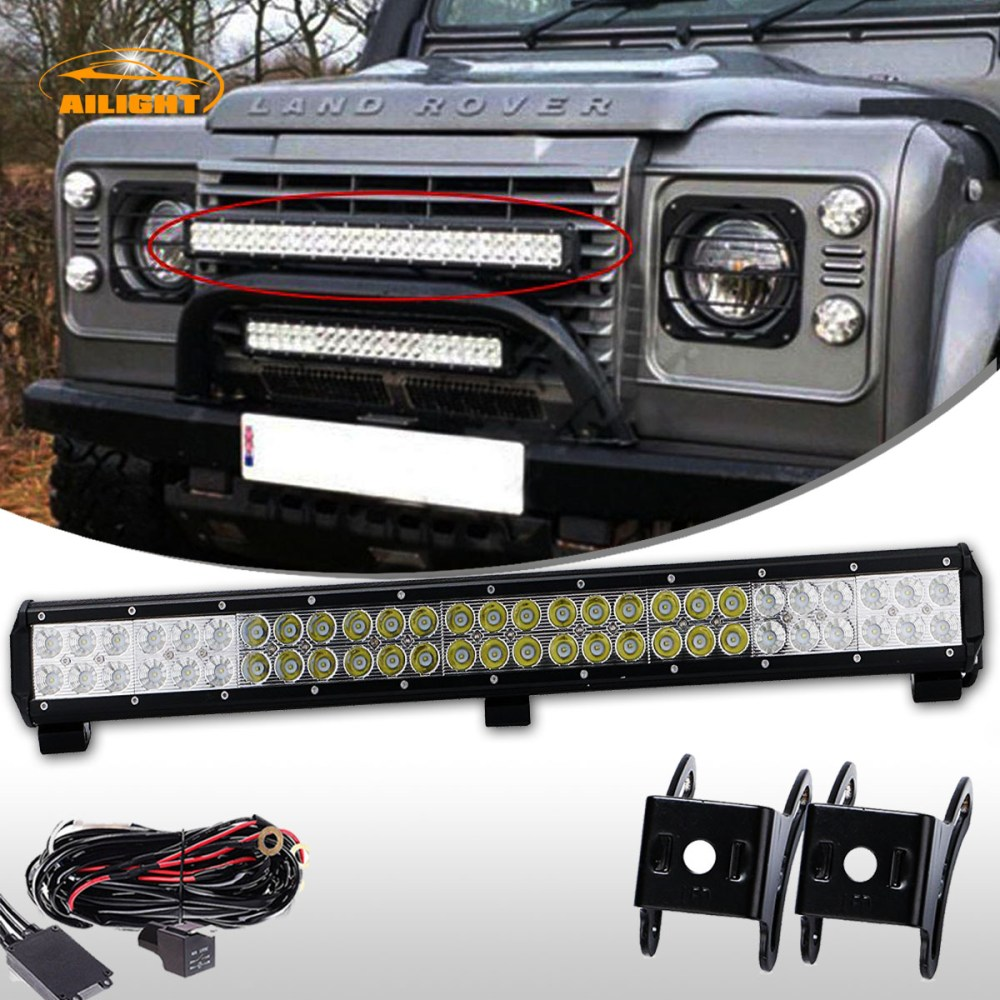 medium resolution of 25inch 162w led light bar combo wiring kit for land rover defender front bumper