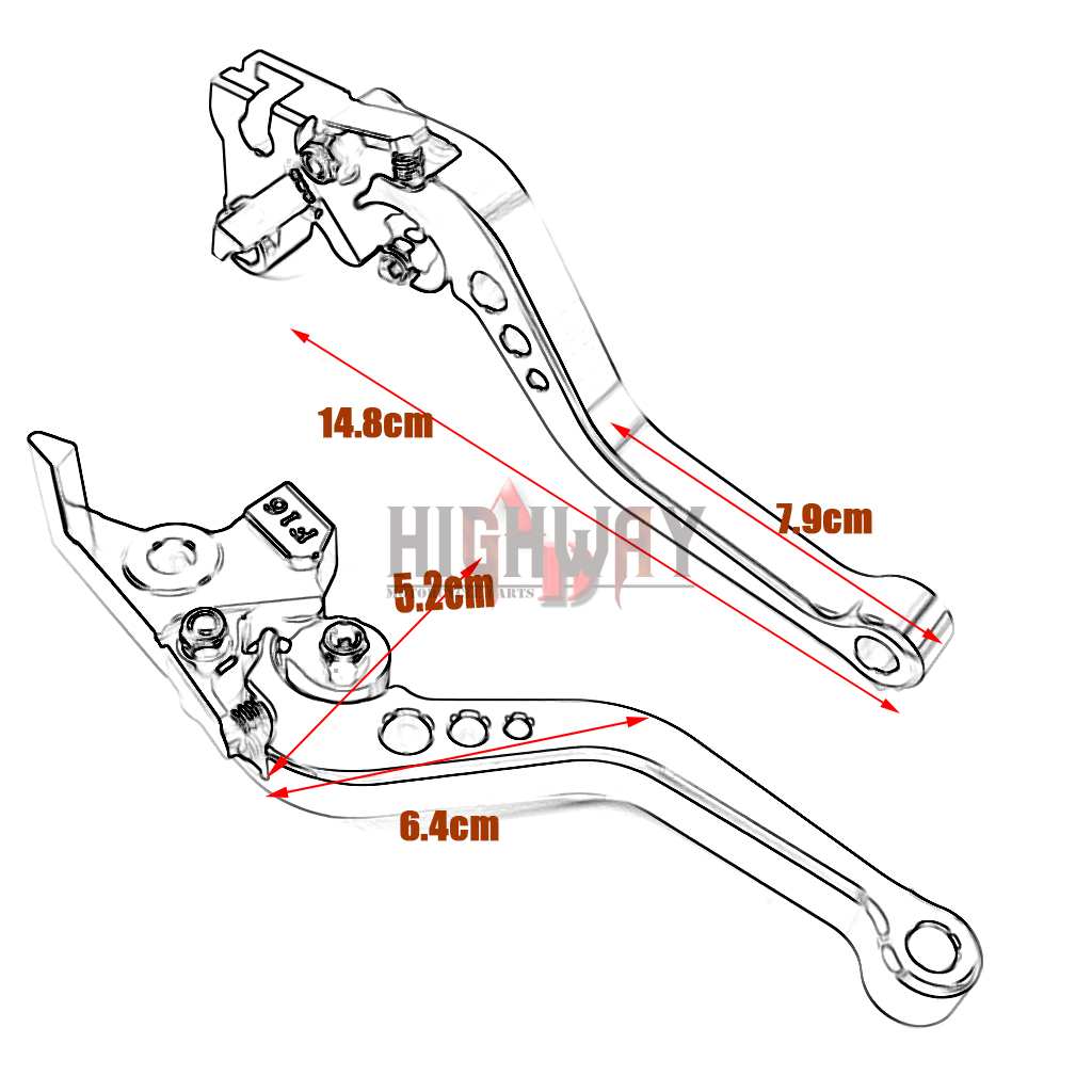 Aluminum CNC Short Brake Clutch Levers For KAWASAKI NINJA