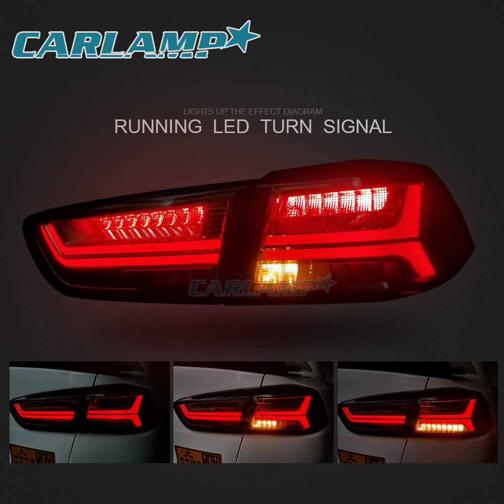 medium resolution of led blackout headlights smoked tail lights for mitsubishi lancer evo x 08 17