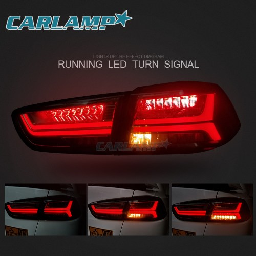 small resolution of led blackout headlights smoked tail lights for mitsubishi lancer evo x 08 17