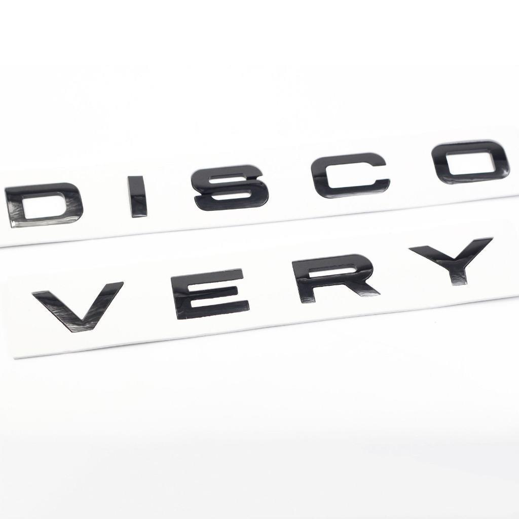 Set 3d Letter Discovery Glossy Black Decal Sticker Badge