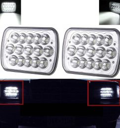 7x6 led headlight upgrade for ford super duty truck f550 f600 f650 f700 f750 [ 1600 x 1600 Pixel ]