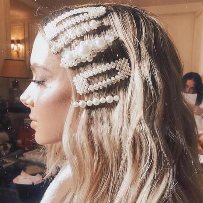details about pearls wedding hair accessories crystal bridal hair tiara bridesmaid clips side