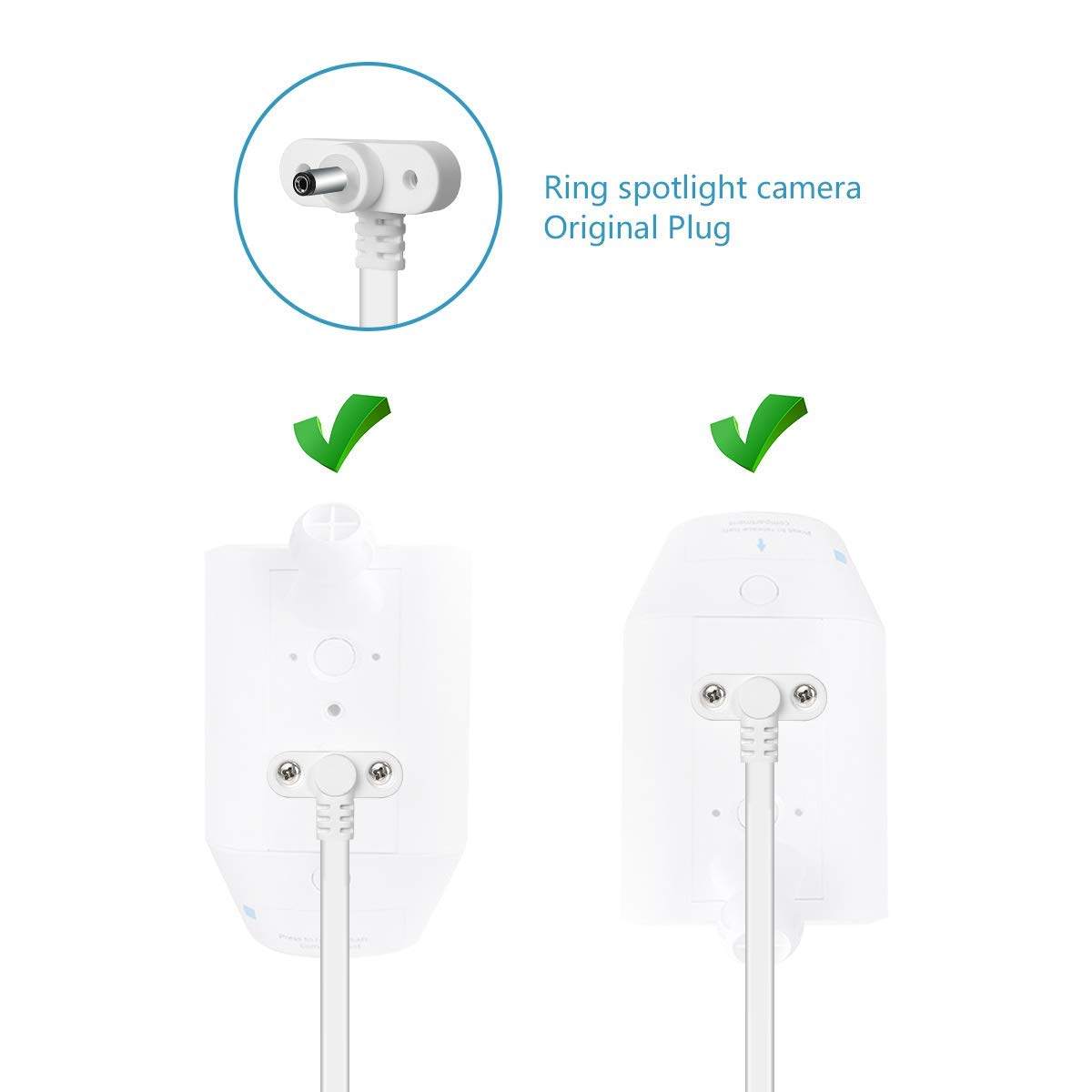 Power Cable Adapter for Ring Spotlight Cam Battery HD
