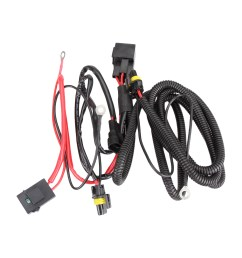 xenon hid bulb conversion relay wiring harness h1 h7 h8 h9 h11 9145 kit 12v 40a [ 1600 x 1600 Pixel ]