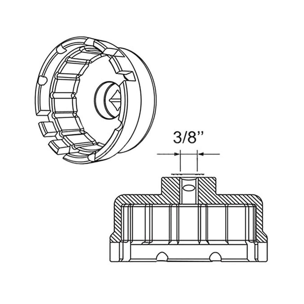 For Toyota RAV4 Camry Lexus V6 Oil Filter Wrench Cap