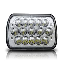 7 x6 led headlight upgrade for ford super duty truck f550 f600 f650 f700 f750 [ 1500 x 1500 Pixel ]