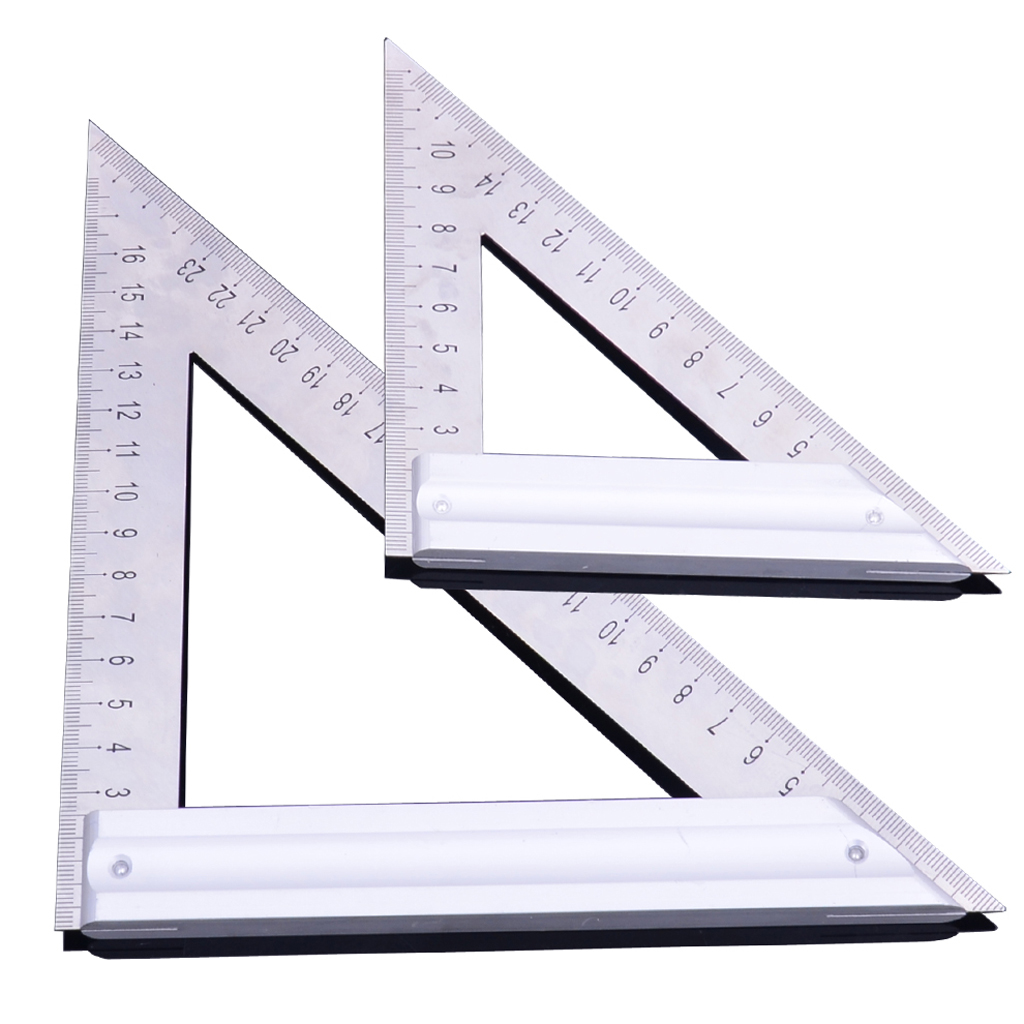 Triangle Layout Stainless Steel Rulers Metric Woodworking