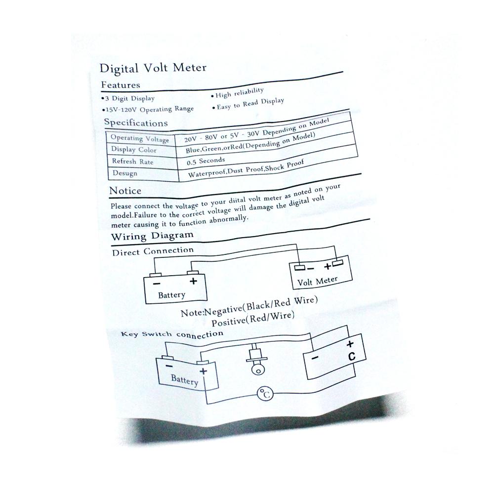 hight resolution of 48v volt battery indicator meter gauge for ezgo club car yamaha golf cart