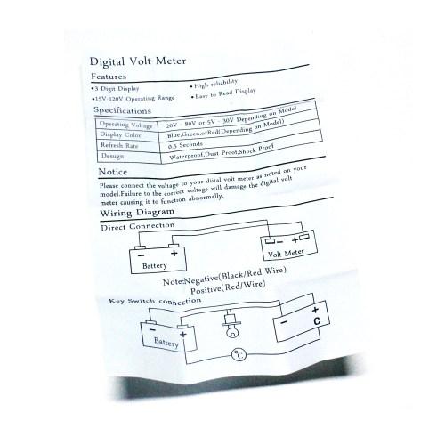 small resolution of 48v volt battery indicator meter gauge for ezgo club car yamaha golf cart