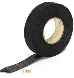4pcs 19mm x 25m adhesive cloth fabric tape cable car auto looms wiring harness [ 1000 x 1000 Pixel ]