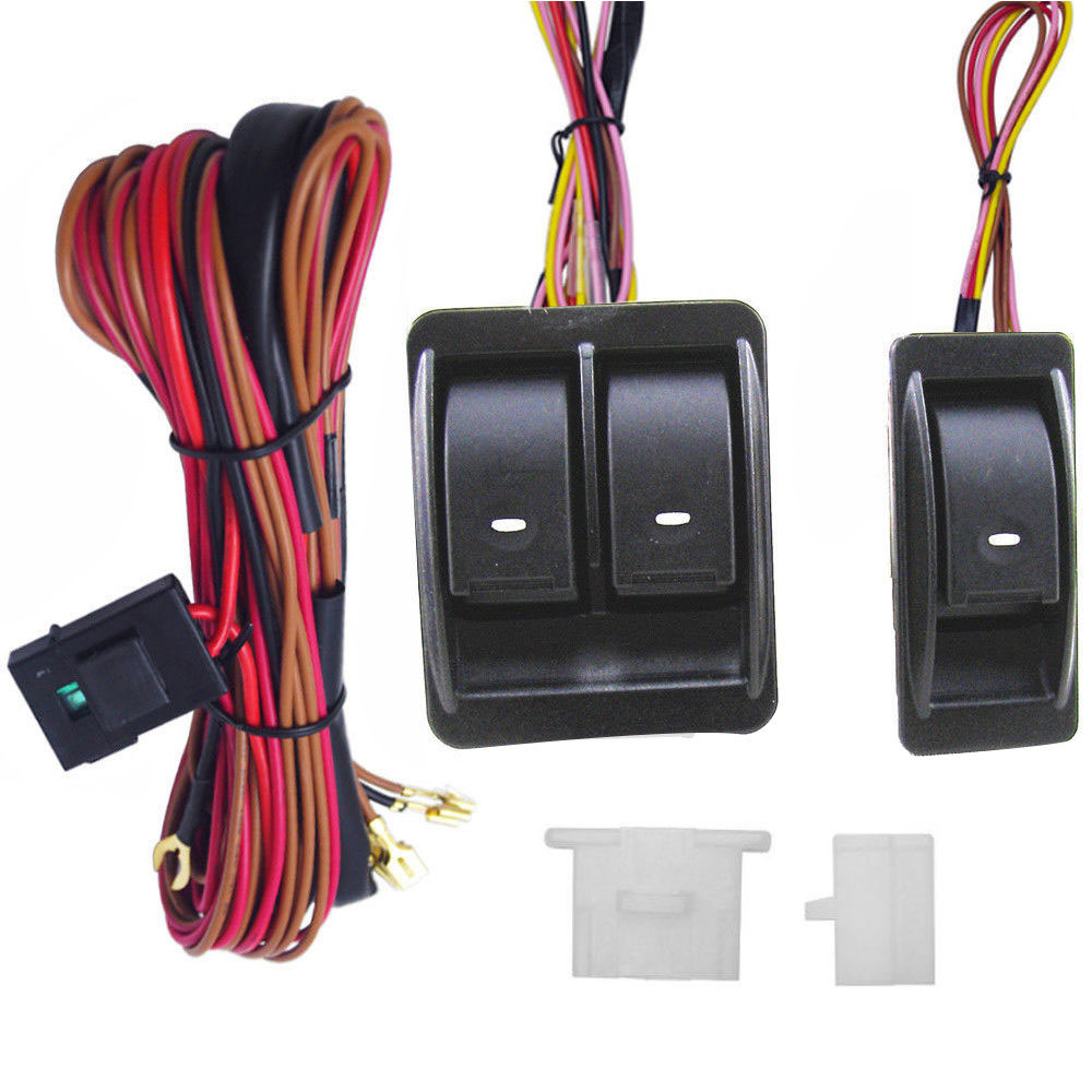 medium resolution of 12v universal power window switch kits with wiring harness switch power window switch wiring harness details