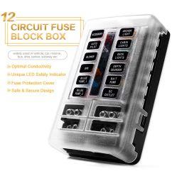 details about led indicator ip56 waterproof blade fuse box holder block atc ato 12 way 250 amp [ 1000 x 1000 Pixel ]