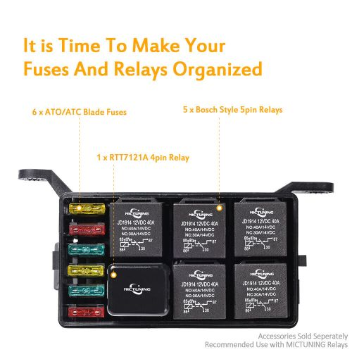 small resolution of automotive car fuse relay holder 12 slot relay box 6 relays 6 atc fuse and relays