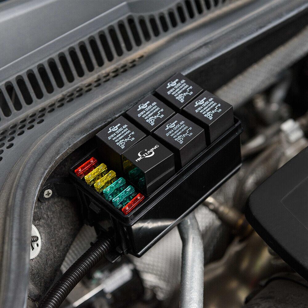 hight resolution of automotive car fuse relay holder 12 slot relay box 6 relays 6 atc ato fuses auto