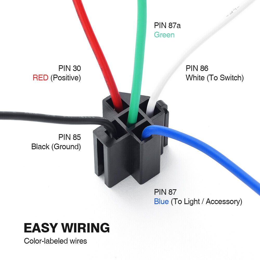 hight resolution of 6 pack fuse relay switch harness set 12v dc ato atc blade fuse 14 awg wires