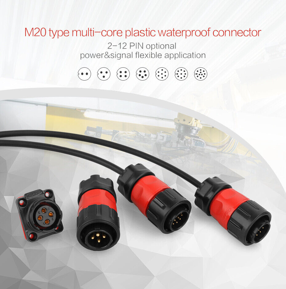 medium resolution of cnlinko 4 pin male female waterproof cable plug power connector ip67 outdoor dc