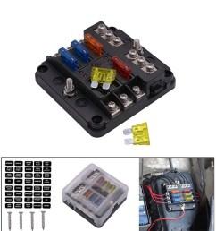 details about 6 way car auto boat marine utv blade fuse box block 12v 32v led indicator uscc [ 1200 x 1200 Pixel ]