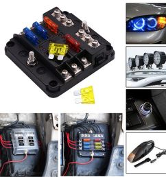 details about 6 way 12v 32v auto car power distribution blade fuse holder box block board uscc [ 1200 x 1200 Pixel ]