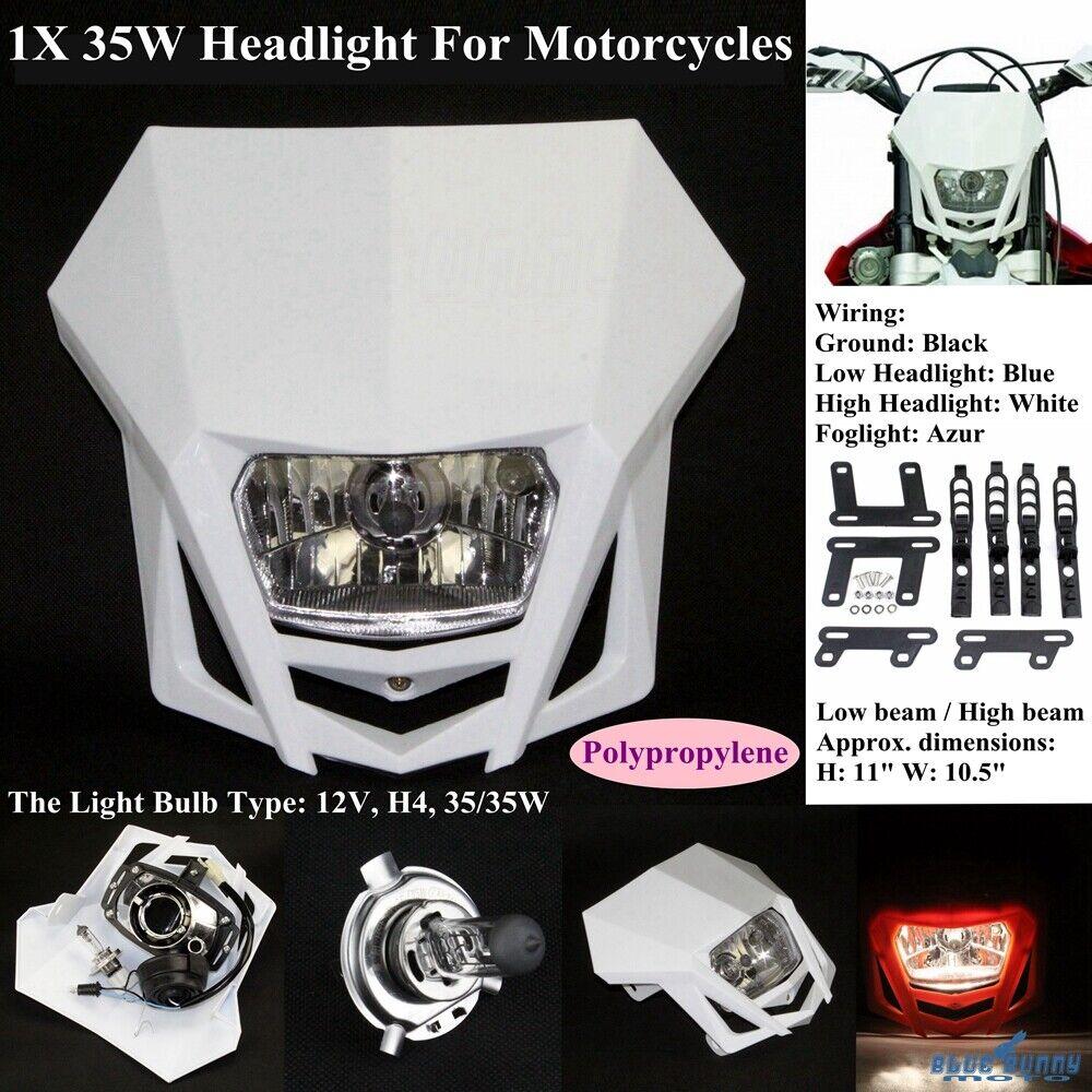 hight resolution of motocross dirt bike headlight head lamp fairing for honda suzuki yamaha kawasaki