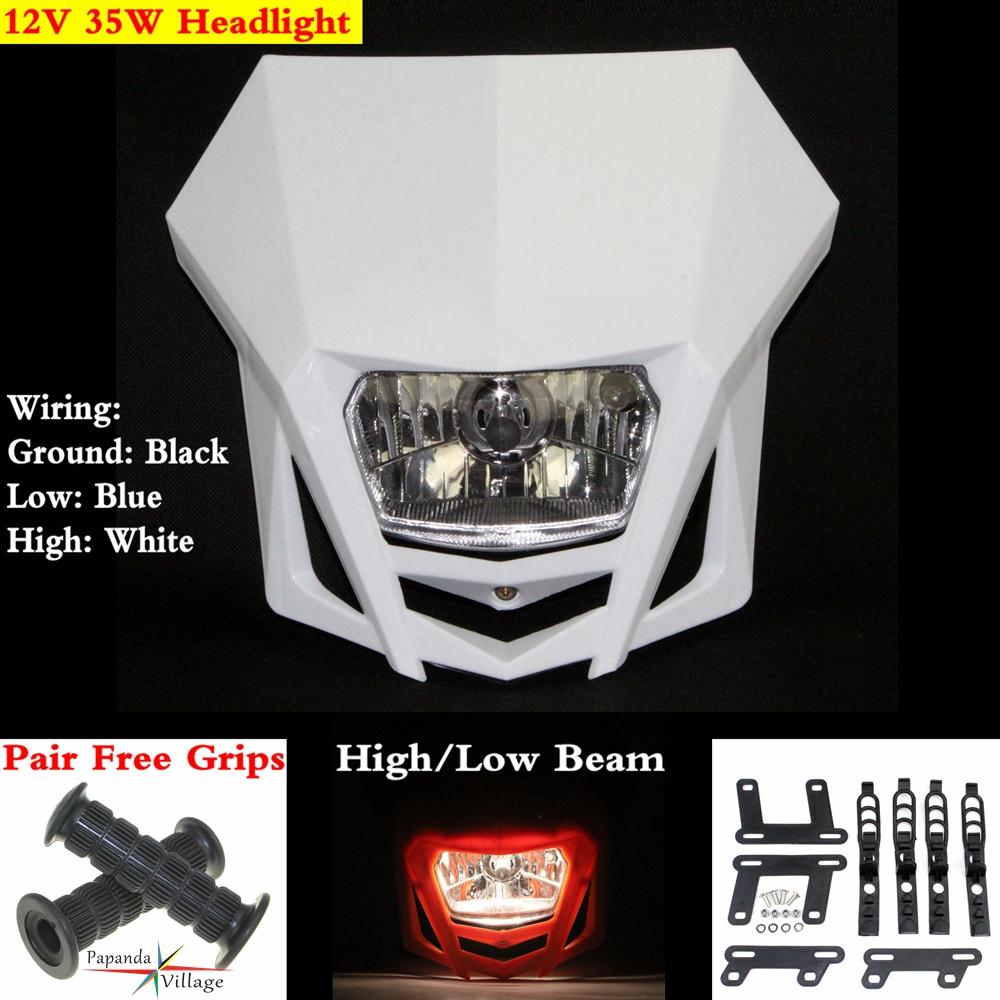 medium resolution of white dirt bike off road motorcycle headlight lamp fairing enduro dual sport