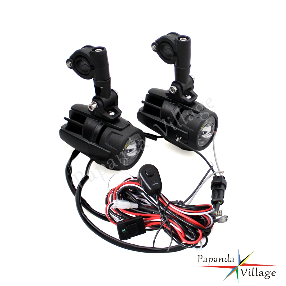 hight resolution of led auxiliary fog lights 40a wiring harness switch for bmw motorcycle r1200gs
