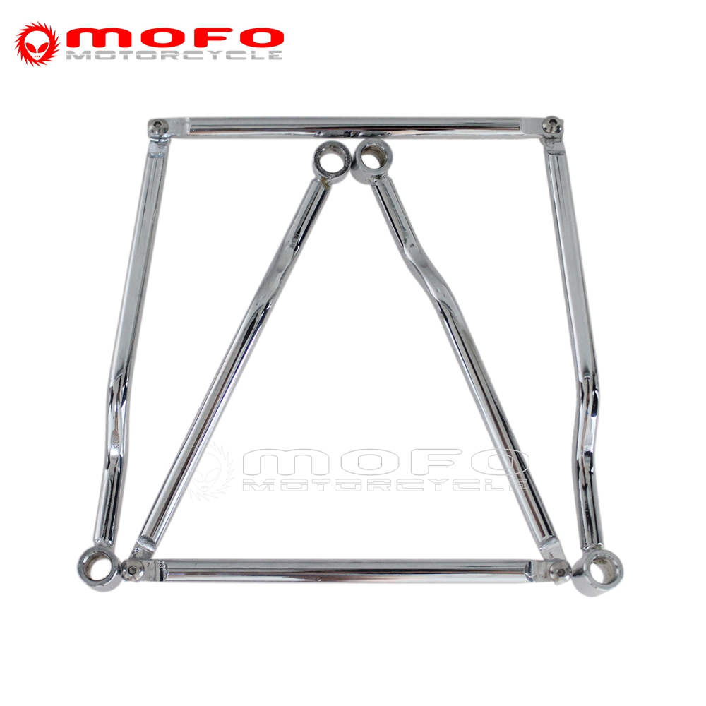 Chrome Saddle Bag Support Bars Mounts Bracket For Honda