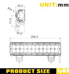 sldx 12 72w 4dimt off road led light bar sae high beam pattern truck bar light [ 1500 x 1502 Pixel ]