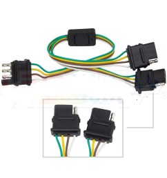 details about 4 way trailer wiring harness w standard 4 pin flat connector y splitter [ 1000 x 1000 Pixel ]