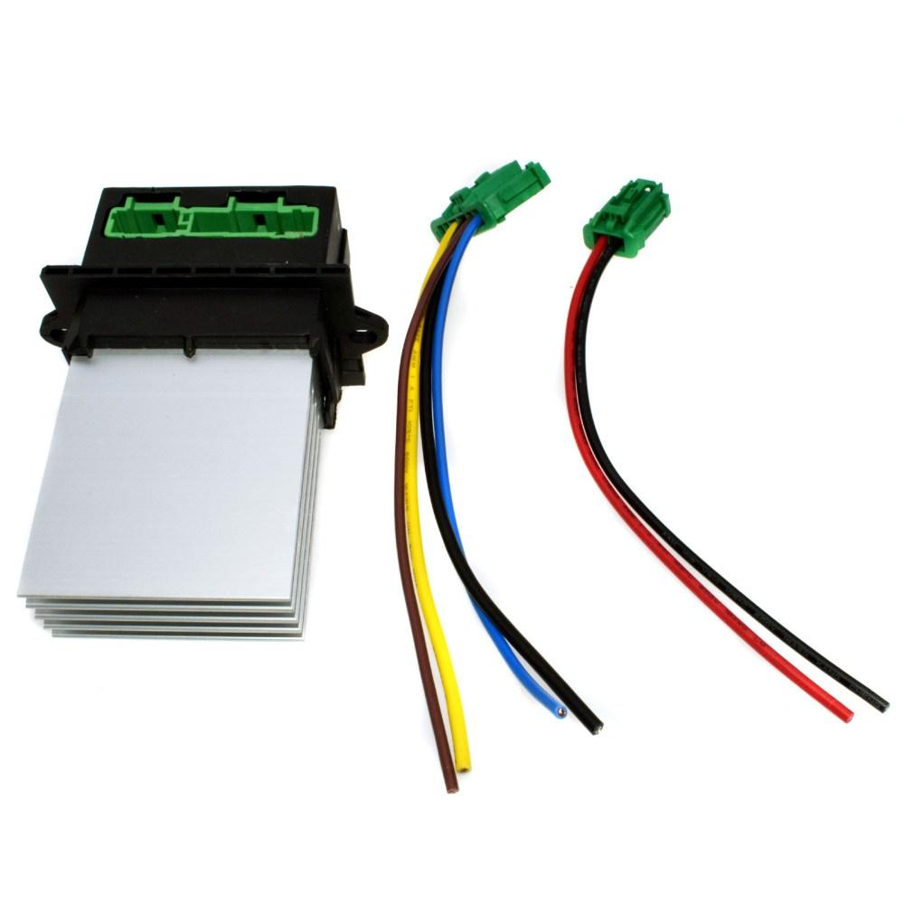 medium resolution of 2pcs heater blower fan resistor plug wiring harness for citroen peugeot renault
