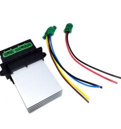 2pcs heater blower fan resistor plug wiring harness for citroen peugeot renault [ 1600 x 1600 Pixel ]