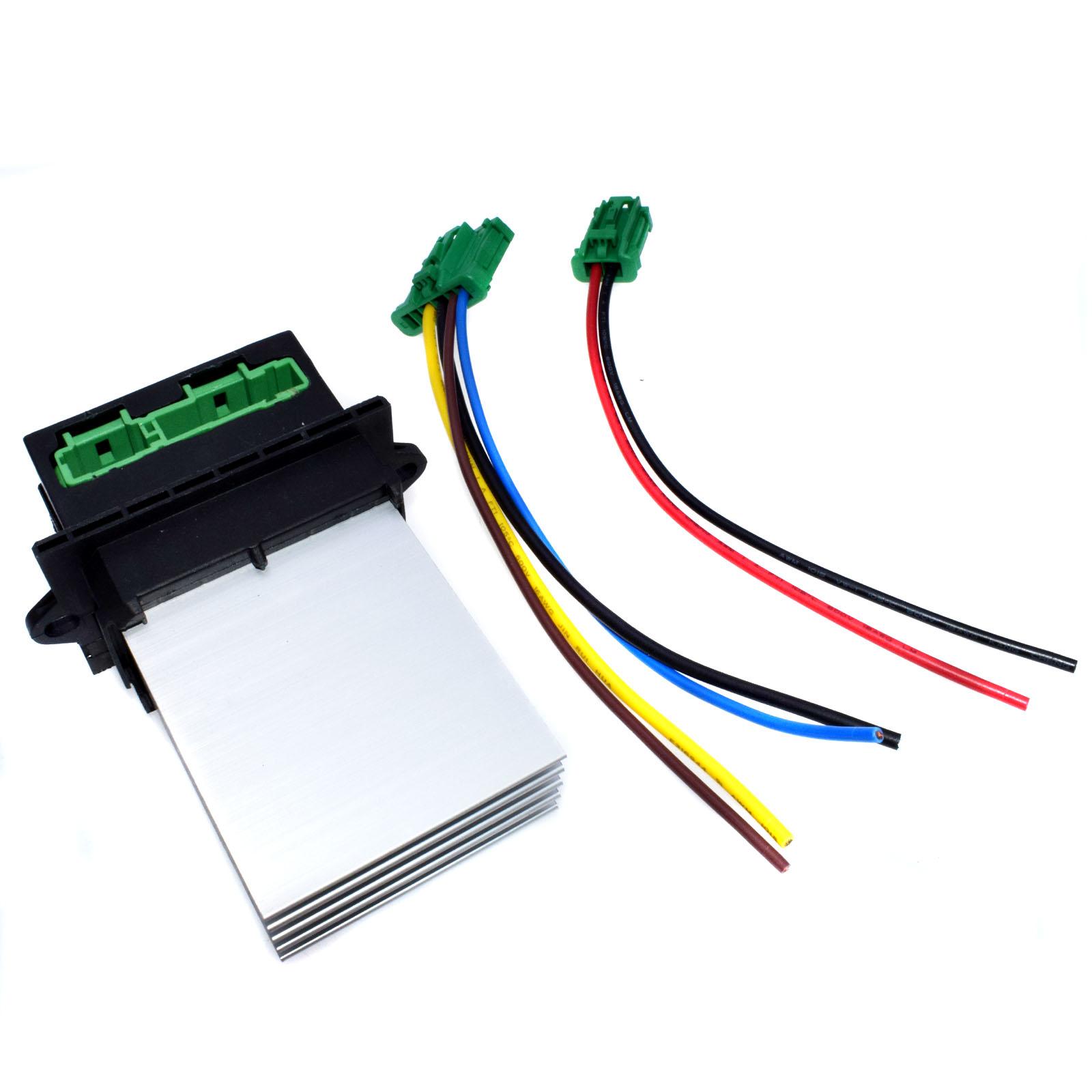 hight resolution of 2pcs heater blower fan resistor plug wiring harness for citroen peugeot renault