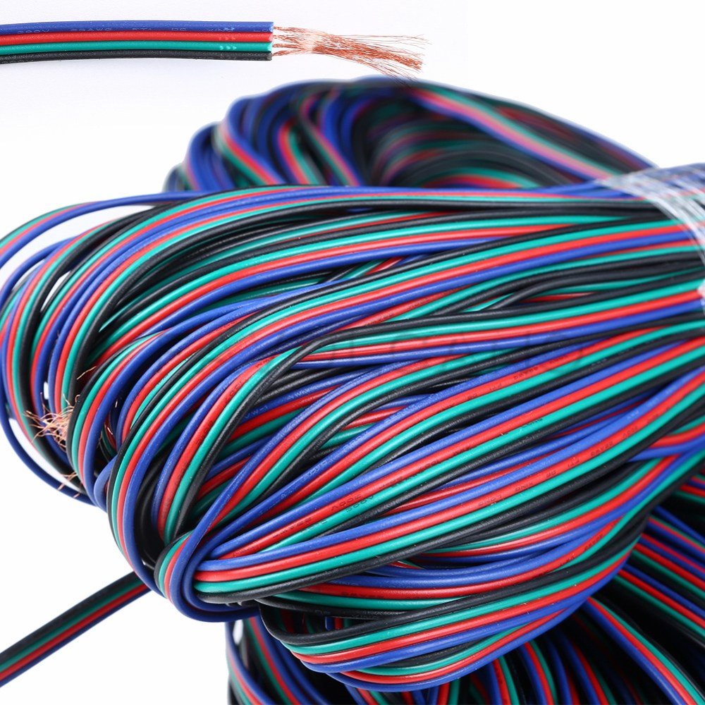 medium resolution of details about 4 pin rgb extension wire cable cord for 3528 5050 rgb led strip light wholesale