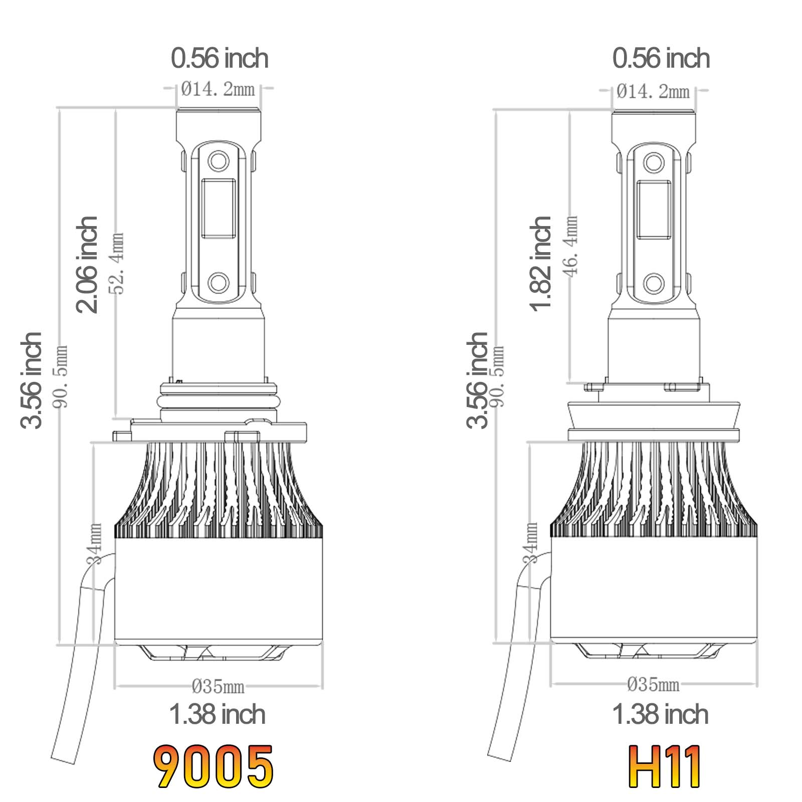 4x For Ram H11 Cree Led 968w
