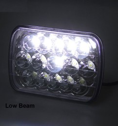 7x6 5x7 led headlight 2x for ford super duty truck f550 f600 f650 f700 f750 [ 1600 x 1600 Pixel ]