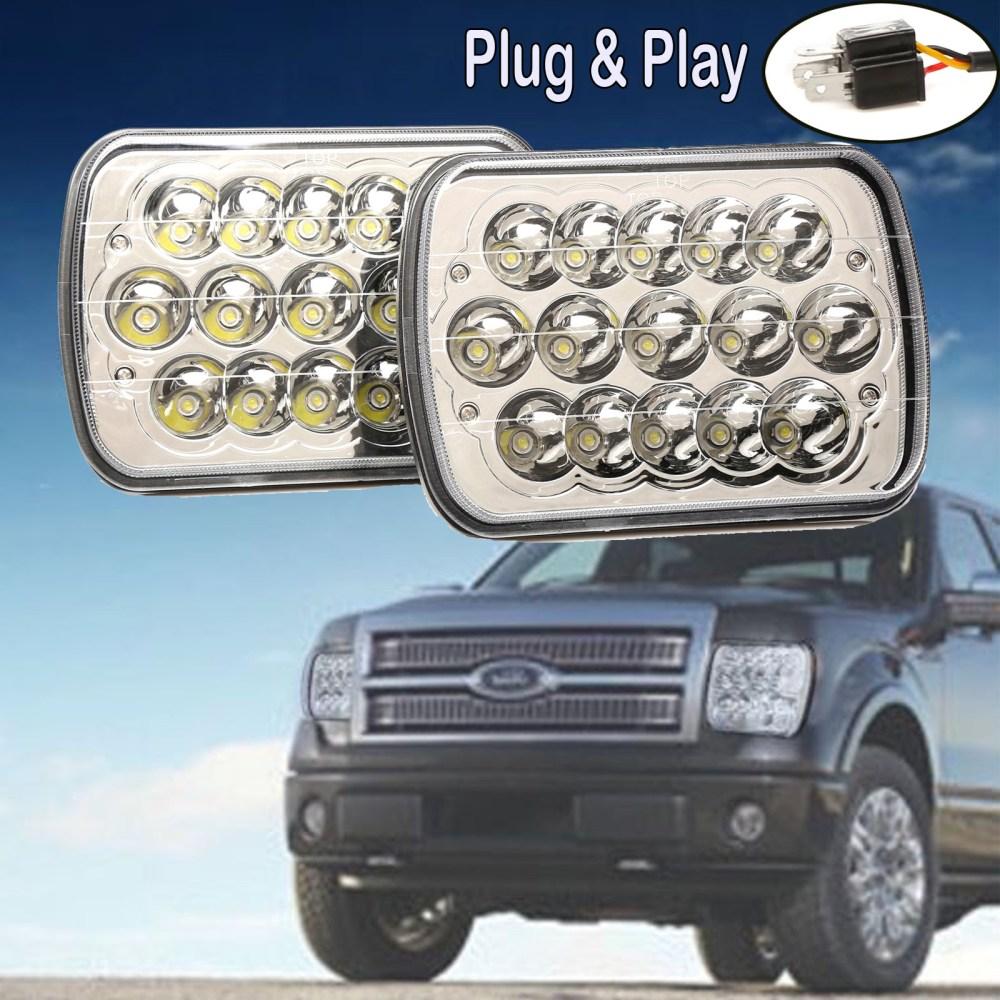 medium resolution of 2pcs 7x6 led headlight bulb 7x5 sealed beam ford f550 f650 f750 f700 f600 truck