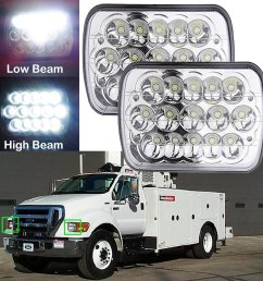 2pcs 7 x6 led headlight fit for ford super duty truck f550 f600 f650 f700 f750 [ 1600 x 1600 Pixel ]