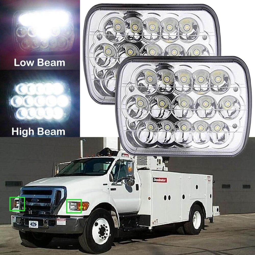 medium resolution of 2pcs 7 x6 led headlight fit for ford super duty truck f550 f600 f650 f700 f750