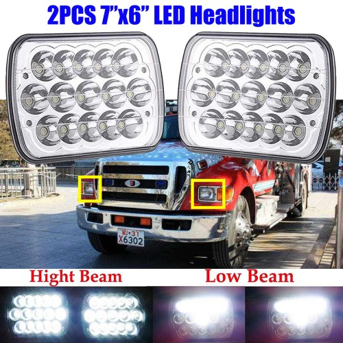 small resolution of 2x led headlight hi lo beam upgrade for ford super duty f550 f650 f750 f700 f600
