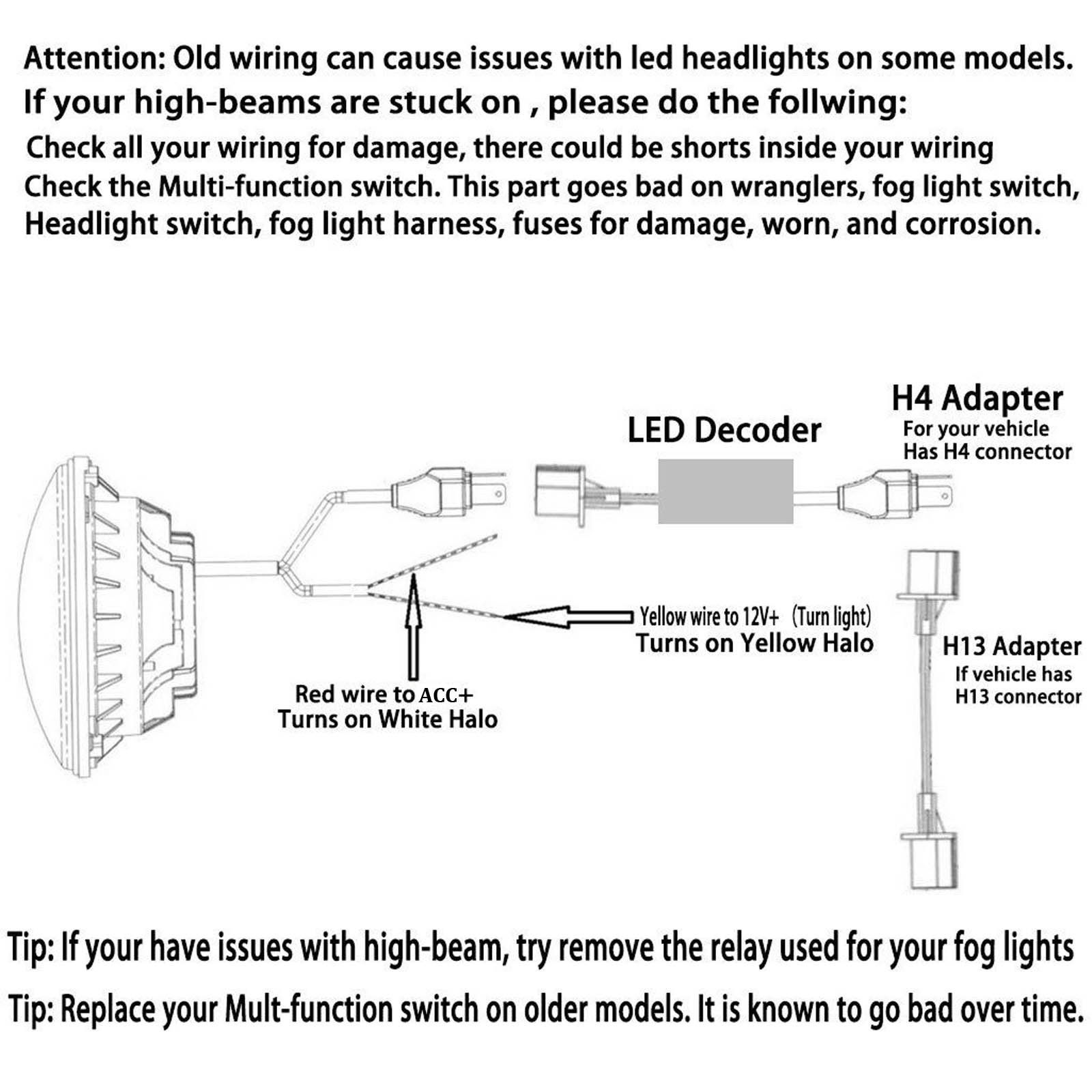 hight resolution of for harley bad boy jeep 7 led motorcycle car projector headlight ez go headlight wiring diagram 6014 headlight wiring diagram
