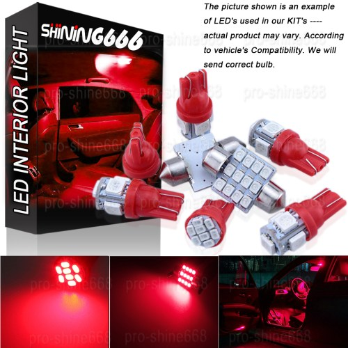 small resolution of details about interior car led roof light smd package bulbs kit red fit vauxhall astra h mk5