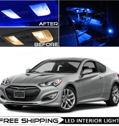 details about blue interior led lights package kit bulb for 2010 2016 hyundai genesis coupe o5 [ 1000 x 1000 Pixel ]