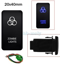 details about blue led push zombie lights switch on off light wiring harness kit for toyota 3a [ 1000 x 1000 Pixel ]