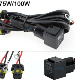 details about 75w 100w h1 h3 h7 h11 9005 9006 880 hid anti flicker power harness relay wiring [ 990 x 800 Pixel ]