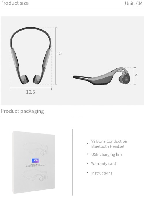 small resolution of bluetooth 5 0 bone conduction headphones wireless sports earphones build in mic
