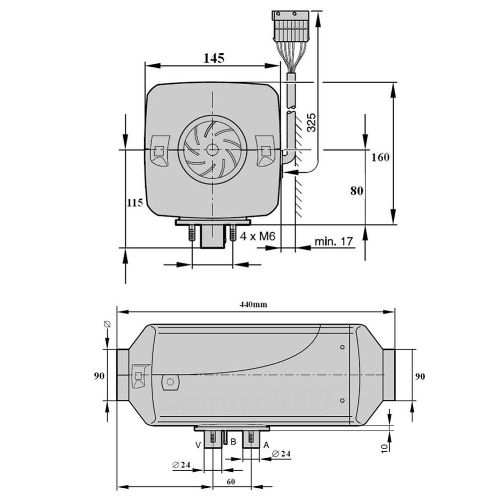 medium resolution of 5kw 5000w 12v air diesel fuel heater for car truck motor home boat bus van