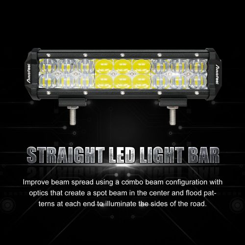 small resolution of 216w 9inch led work light bar spot flood combo beam driving suv wiring harness