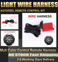 details about autofeel wiring harness kit on off for led work light bar off road 12v 40a fuse [ 1000 x 1000 Pixel ]